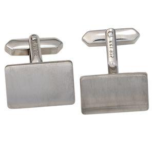 Manschettenknöpfe Manschettenknopf 925 Sterling Silber rhodiniert mattiert