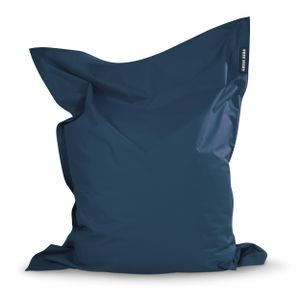 Green Bean © SQUARE XL Riesensitzsack 120x160 cm - Indoor & Outdoor Sitzsack - Gaming Bean Bag Lounge Chair - Kinder & Erwachsene - Dunkelblau