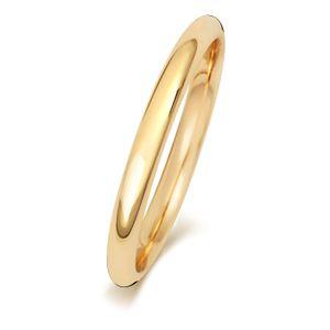 9 Karat (375) Gold 2mm Court Form Herren/Damen - Trauring/Ehering/Hochzeitsring, 53 (16.9); WJS24249KY