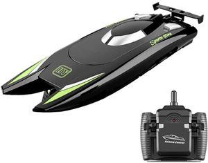 GoolRC 805 RC-Boote für Kinder Erwachsene 25 km / h Hochgeschwindigkeits-Rennboot 2-Kanal-Fernbedienungsboote für Pools Rennboot