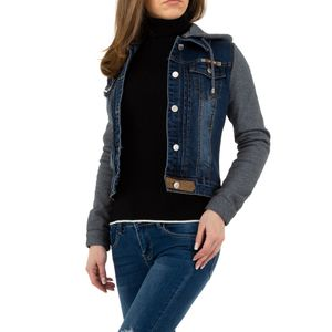 Ital-Design Damen Jacken Jeansjacken Blau Gr.xl