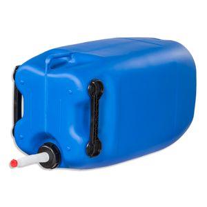 60 Liter Kanister Wasserkanister Camping & Outdoor blau 3 Griffe + Ausgießer flexibel (60 Knb 3G + Flex71)