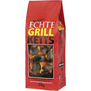 Feuer & Flamme Echte Grillketts Holzkohle-Briketts (3 kg)