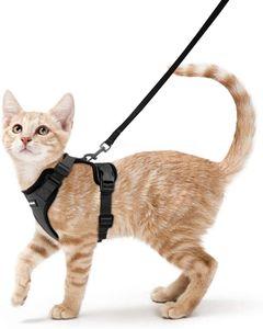 Katzengeschirr mit Leine Ausbruchsicher Katzenleine Kitten Verstellbar Cat Harness Weich Brustgeschirr für Katzen Hunde Katzen (xs)