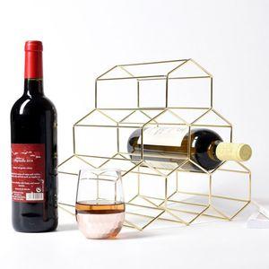 kreative Dreieck 6 Flasche Weinregal Lagerung Halter Küche bar Gold Farbe Gold