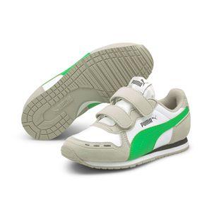 PUMA Cabana Racer SL V PS Kids Sneaker Schuhe weiss/grün 360732 , Schuhgröße:32 EU