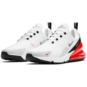 Nike Air Max 270 G Golf Shoe / Schuhe  WHITE / BLACK / RED 44
