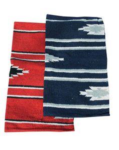 AMKA Westernpad  Pony Sattel Navajo Decke 26 x 26 Inch, 66 x 66 cm, Farbe:Rot