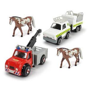 Dickie Toys - Spielfahrzeuge, Feuerwehrmann Sam 4 Pack, 3-sortiert.; 203099630