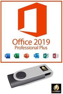 Microsoft® Office 2019 Professional Plus + 16GB USB Stick und Anleitung von - LionKey