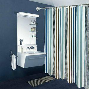 240 x 200 cm Home Bad Duschvorhang Wasserdichte Polyester Stoff Metall Ösen Streifenformdruck