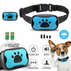 Welikera  Hunde Halsband 3in1 Vibration ,blau
