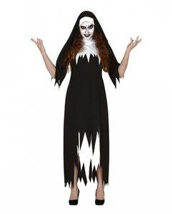 Zerfetztes Ordensschwester Kostüm für Damen als Verkleidung für Halloween und Karneval