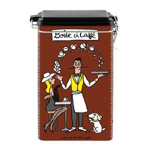 derrière la porte Blechdose Kaffeedose mit Verschluss- Boîte à café Chaud devant