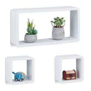 relaxdays Schwebende Cube Regale 3er Set