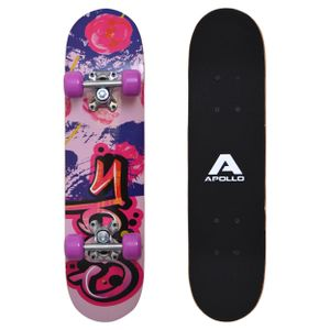 "Apollo Kinderskateboard ""Graffiti"" 61cm Kinderboard Skateboard mit 9 Lagen Holzdeck"