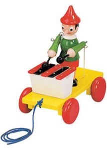 Bino & Mertens - Ziehfigur Pinocchio mit Xylophon