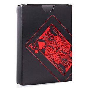Wasserdichte Kartenspiel Plastikspielkarten Pokerkarte Brettspiel Party Tischspiel Geschenk Rot
