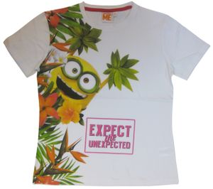 Universal T-shirt Minions - Unexpected mens Baumwolle weiß