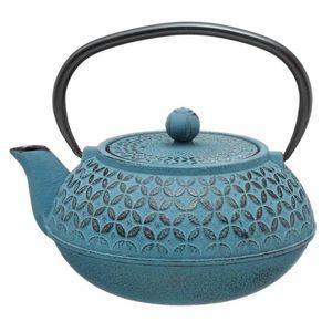 Teekanne aus Gusseisen mit herausnehmbare Filter – Kapazität 1 L – Farbe blau