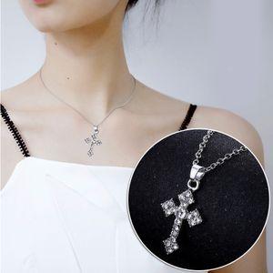 Strass  Kreuz Fš¹r  Halskette  Halskette Charme Kette Charme Zugang