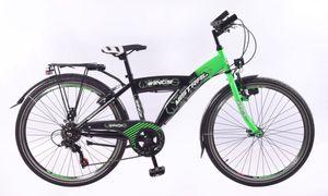 26 Zoll Kinder Jungen Jungenfahrrad City Fahrrad Kinderfahrrad Cityrad Citybike Cityfahrrad Rad Bike Shimano 6 GANG Led Dynamo STVO MISTRAL GRÜN