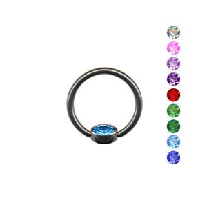 BCR Klemmkugel Ring: Lippenbändchen Klemmring Piercing flach, Farbe:Pink, Größe:8 mm