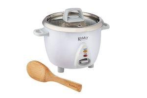KeMar Kitchenware KRC-100 Reiskocher   Kompakt   0,6L   Edelstahltopf   Glasdeckel   BPA-frei und ohne Aluminium