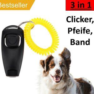 Melario 3 in 1 Clicker Hund Klicker Clickertraining Pfeife Hundeerziehung Hund Hunde
