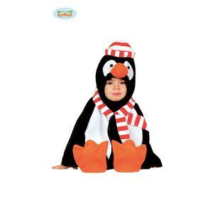Poncho Cape Pinguin Kinderkostüm