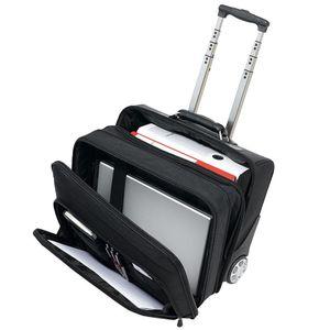 Pilotenkoffer mit Trolleygestell Trolley Aktenkoffer Reisekoffer Büro Tasche