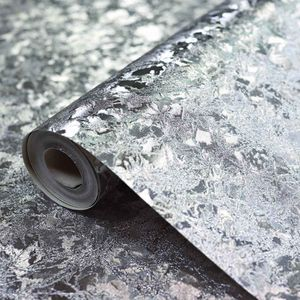 Vinyl Tapete Samt Struktur silber
