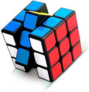 Zauberwürfel, 3x3 Zauberwürfel, Magic Cube, Puzzle Cube, Speedcube für Konzentrations und Kombinationsübungen, Dreht Sich Schneller und Präziser, Super Robust mit Lebendigen Farben (Black)