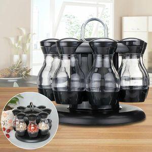 Würze Set 360 Rotierenden Gewürz Glas Rack Küche Menage Würze Flasche Kaffee Zucker Dichtung Glas Container Rack