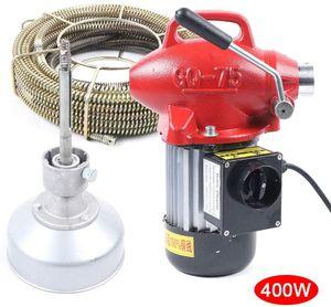 20-100mm  Rohrreinigungsmaschine Rohrreiniger Rohrreinigungsgerät Abflussreiniger   400W 16mm Spirale  400 U/min (rot)