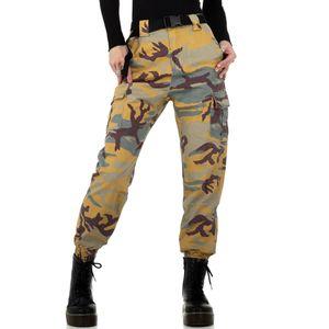 Ital-Design Damen Jeans Boyfriend Jeans Beige Gr.s/36