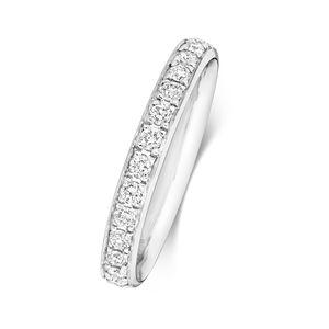 Platin 950 2,7mm Halb Eternity Damen - Diamant Trauring/Ehering/Hochzeitsring Brillant-Schliff 0.28 Karat G - SI1, 50 (15.9); WJS2034PT950