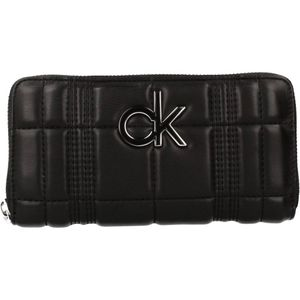 Calvin Klein Damenbörse Re-Lock Ziparound Q Quer Synthetik Large 10 x 19 x 2,5 cm (H/B/T) Damen Geldbörsen