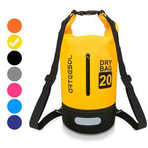 arteesol Dry Bag 20L Wasserdicht seesäcke Tasche Seesack Rollbeutel Packsack für Rafting Camping, Gelb