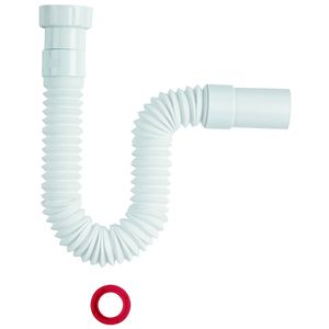 """Sanixa Universal-Abflusssiphon flex 1 1/2"""" Zoll auf 40 / 50mm Siphon Küche Spüle Bad Waschbecken Ablauf flexibel…"""