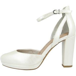 Tamaris Damen Sandalen Fesselriemen Blockabsatz 1-24401-26, Größe:39 EU, Farbe:Weiß