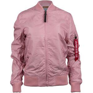 ALPHA INDUSTRIES MA 1 TT Damen Jacke Mantel Silber-Pink, Größe:S