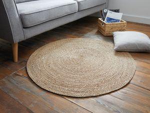 Bodenmatte 'Natur' schöner Naturteppich aus unbehandeltem Maisstroh geflochten