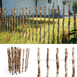 Staketenzaun Holzzaun Gartenzaun Haselnuss Lattenabstand 7-8 cm 500cm 90cm hoch