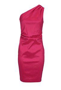 Ashley Brooke Damen Designer-One-Shoulderkleid, pink, Größe:46