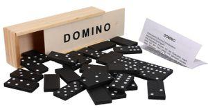 Domino Spiel Dominosteine in Holzbox Gesellschaftsspiel Familienspiel Dominospiel Reisespiel
