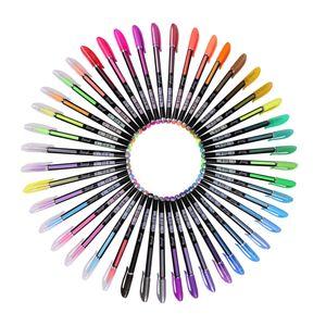 48 Farben Glitzer Gelschreiber Gelstifte Gelmalstifte Tintenroller Stifte Schrein
