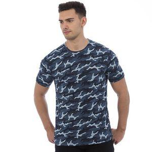 AWDis Herren Camouflage T-Shirt PC2978 (L) (Blau Camo)