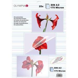 Olympia Laminierfolien DIN A2 175 micron (25 Stück)
