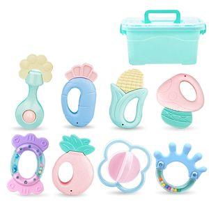 Baby Rassel 0-1 Jahre Alt Neugeborene Frühpädagogik Beißring Spielzeug 0-3-6-12 Monate Kann Gekocht Werden